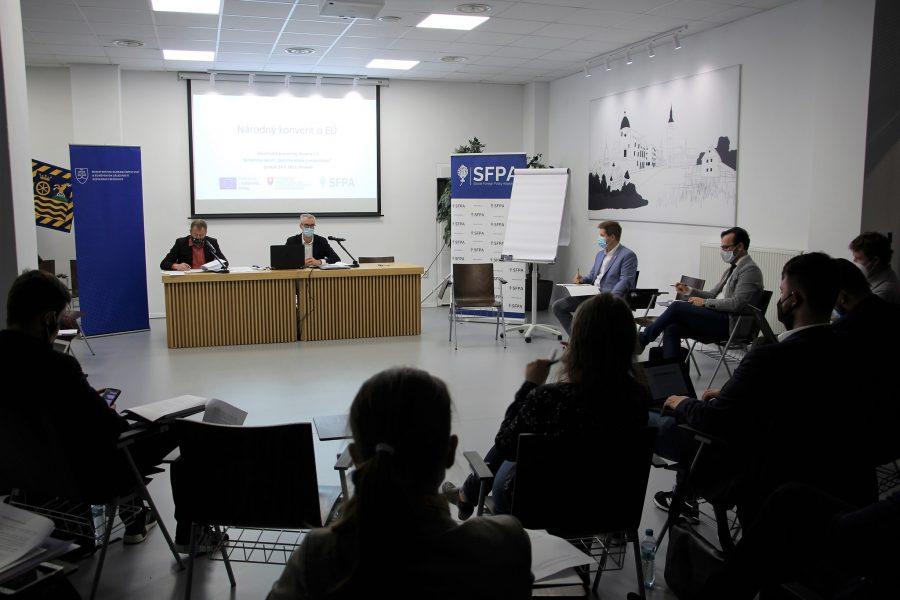 Stretnutie pracovnej skupiny Dezinformácie a populizmus (Národný konvent o EÚ)