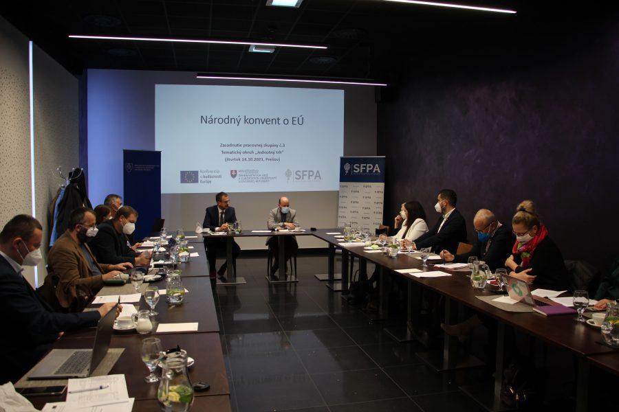 Stretnutie pracovnej skupiny Jednotný trh (Národný konvent o EÚ)